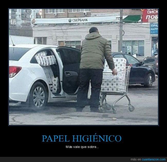 coche,papel higiénico,wtf