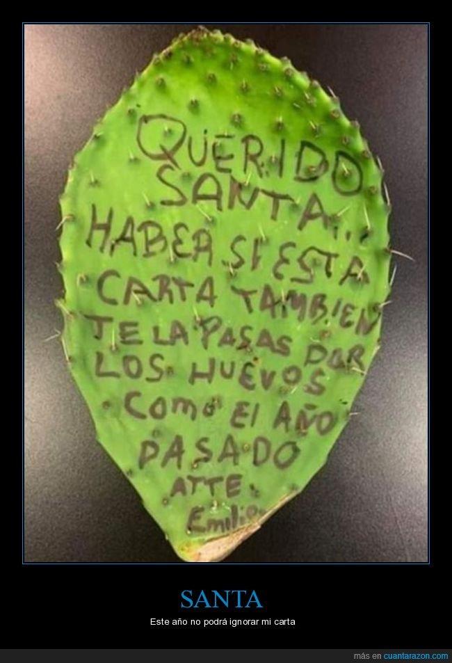cactus,carta,papá noel
