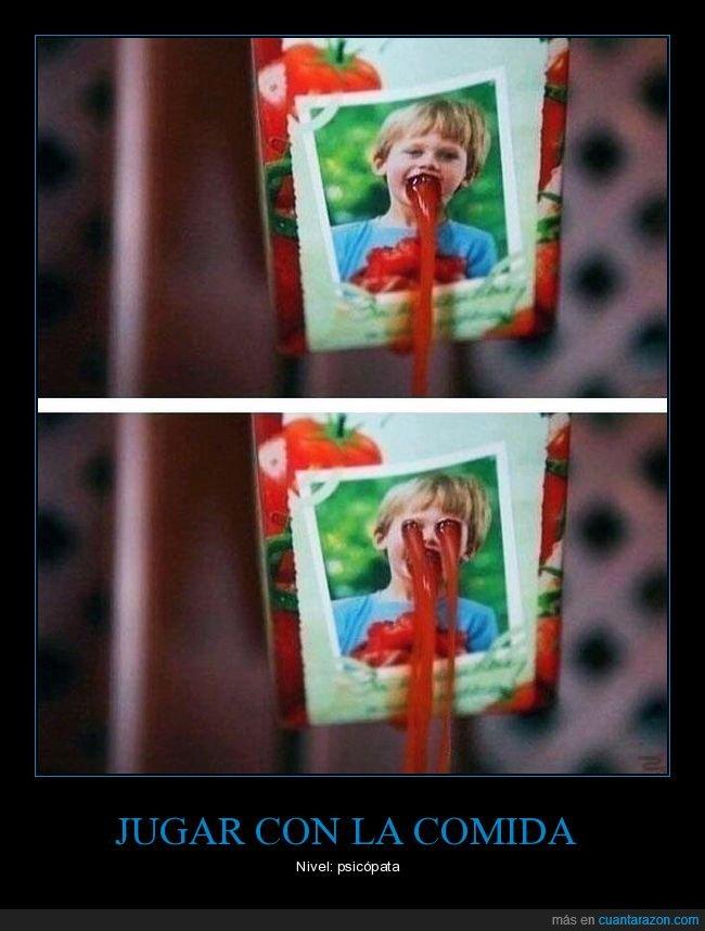 cara,ketchup,niño,wtf