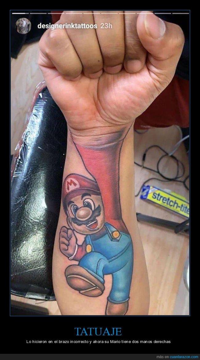 derecha,manos,mario,tatuaje