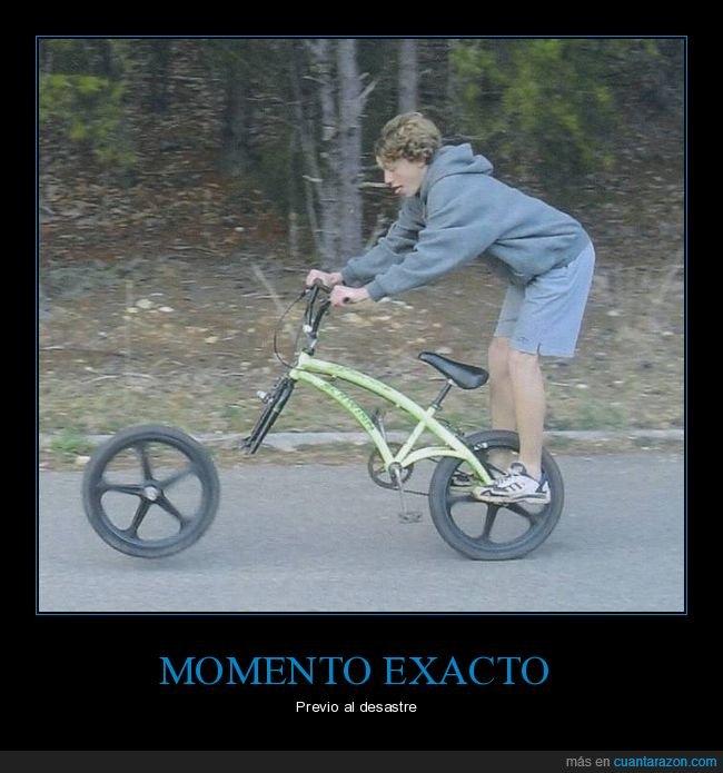 bicicleta,fails,momento exacto,rueda