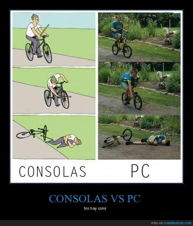 bicicleta,consolas,palo,pc