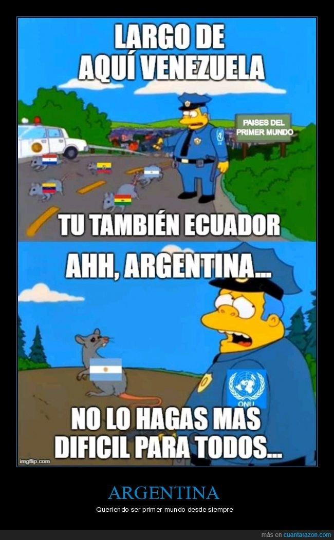 argentina,países,primer mundo,simpsons