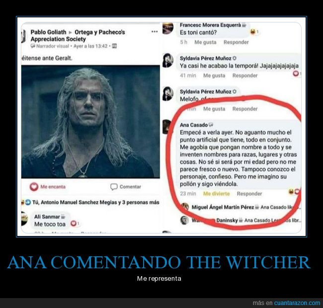 comentario,the witcher