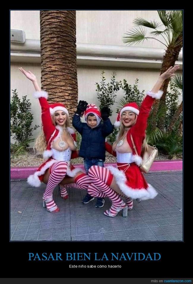 chicas,navidad,niño