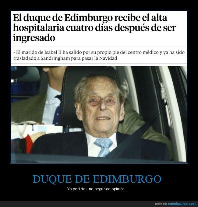 cara,duque de edimburgo,hospital,wtf