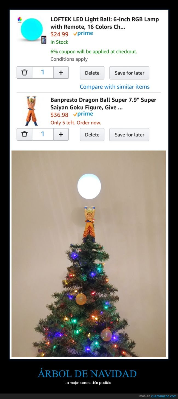árbol de navidad,dragon ball,goku,lámpara
