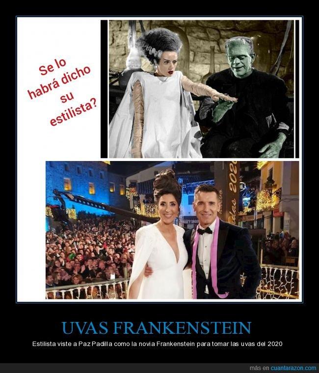 2020,campanadas,nochevieja,novia de frankenstein,paz padilla