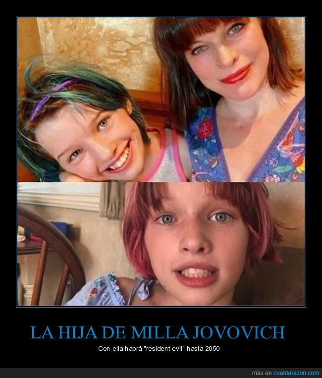 hija,milla jovovich,resident evil