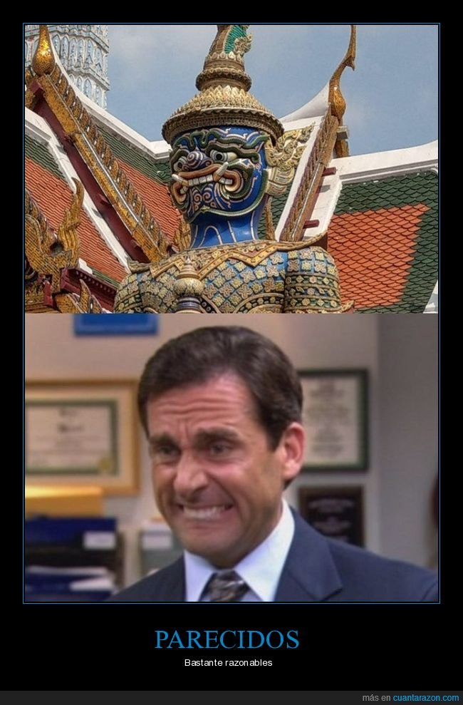 cara,estatua,michael scott,parecidos