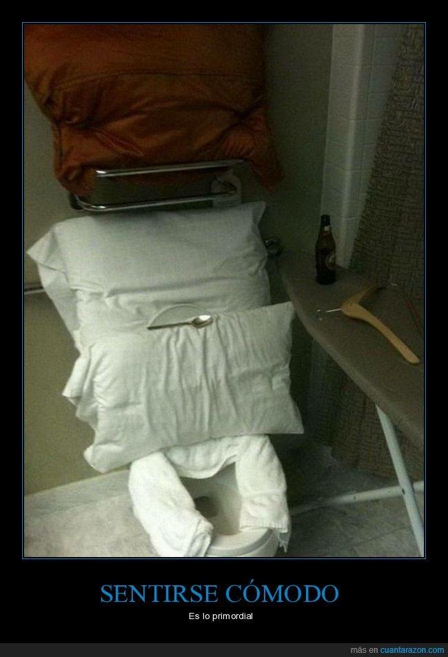 almohadas,cómodo,váter
