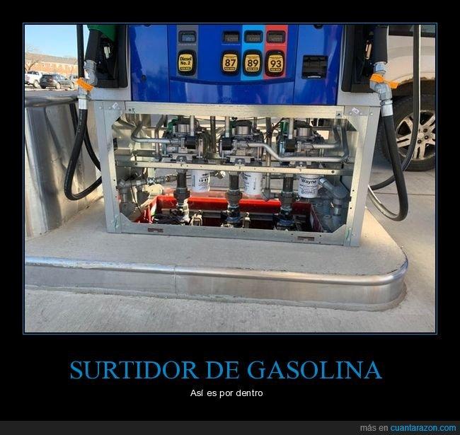 curiosidades,gasolina,interior,surtidor