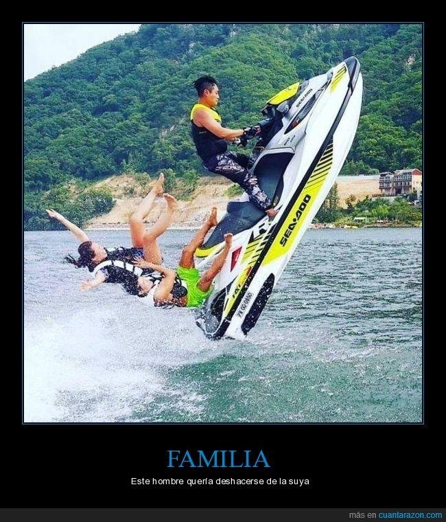 fails,familia,moto de agua