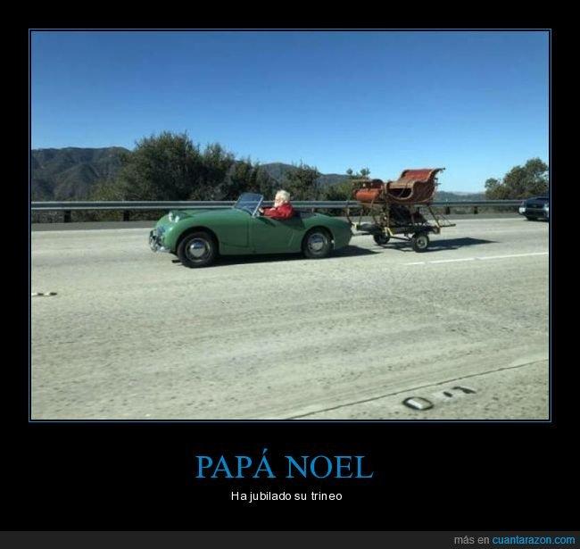 coche,papá noel,trineo