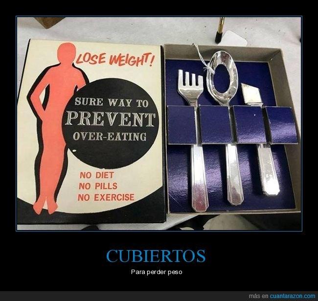 cubiertos,perder peso