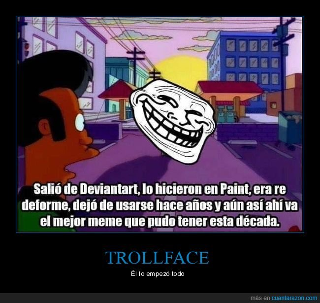 apu,simpsons,trollface
