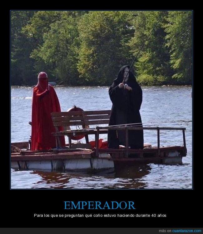 cosplay,emperador,pescando,star wars