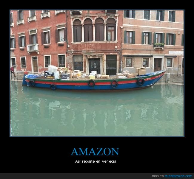 amazon,barca,repartir,venecia