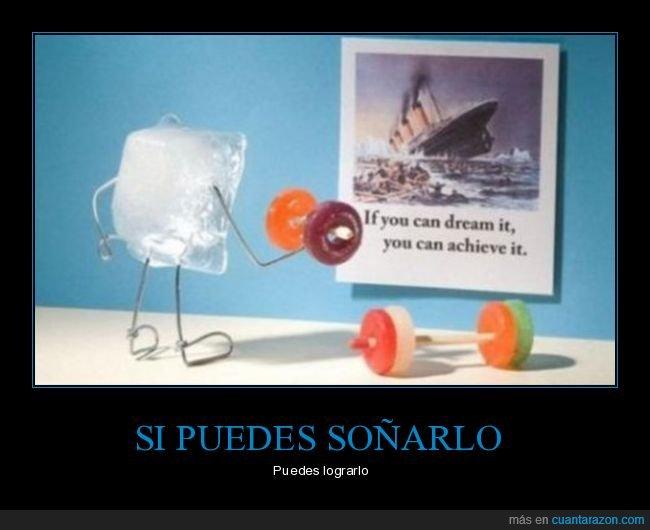 entrenando,hielo,iceberg,lograrlo,soñando,titanic