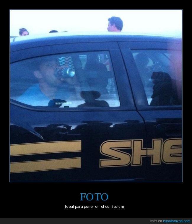 bebiendo,coche,policía,wtf