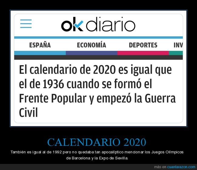 2020,calendario,frente popular,guerra civil,okdiario