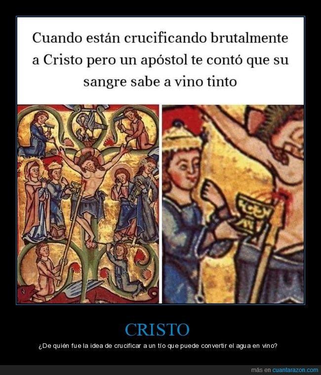arte,cristo,crucificando,sangre,vino
