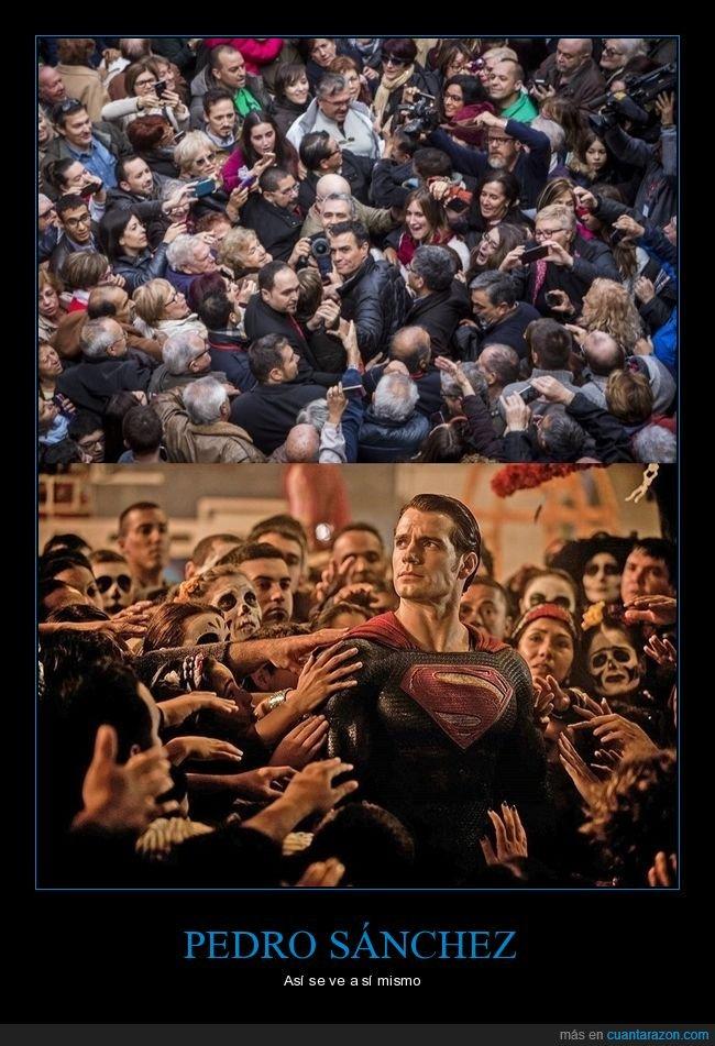 parecidos,pedro sánchez,políticos,superman