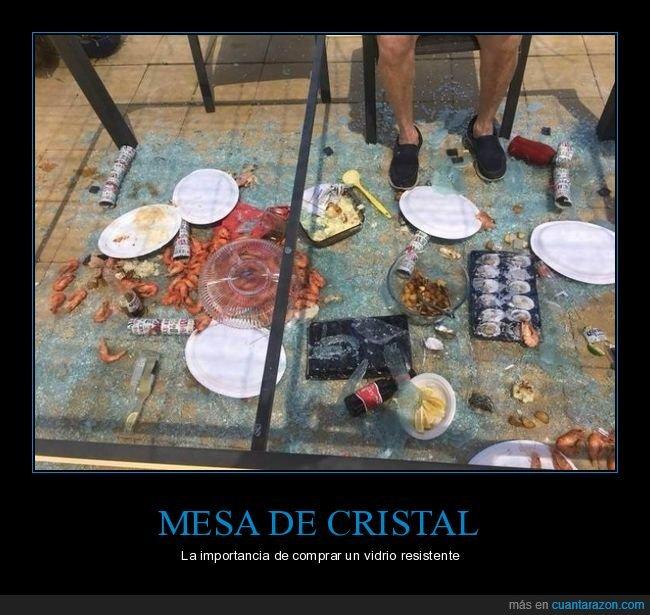 comida,cristal,fails,mesa