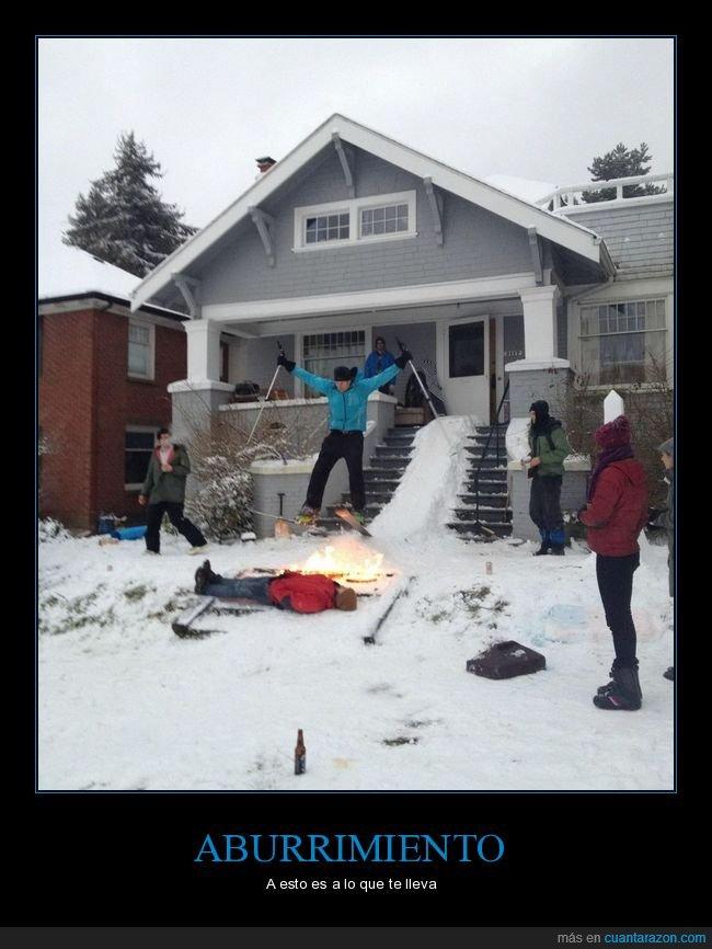 esquí,fuego,salto,wtf