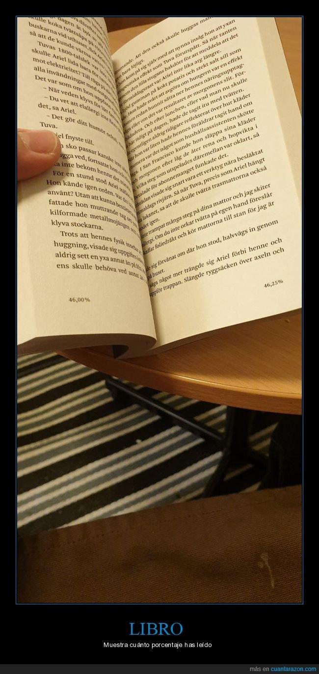 libro,páginas,porcentaje