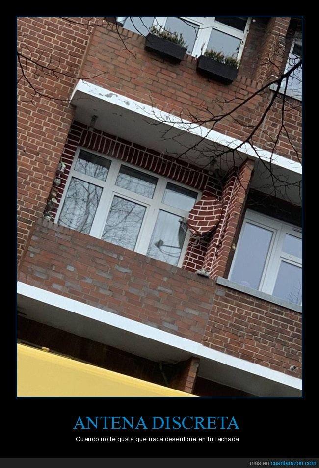 antena,fachada,pintada