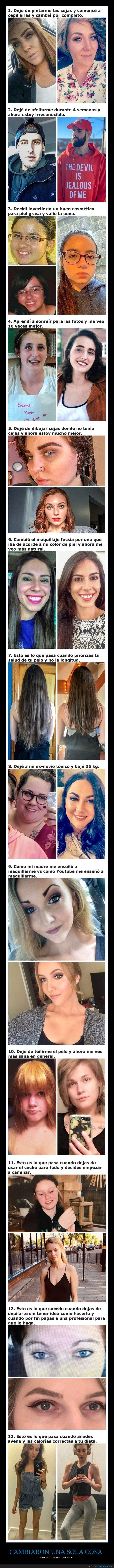 ahora,antes,aspecto,cambiar