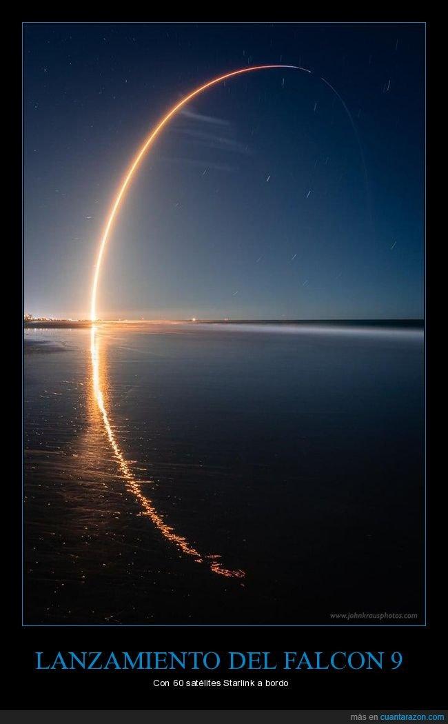 lanzamiento,mar,reflejado,space x
