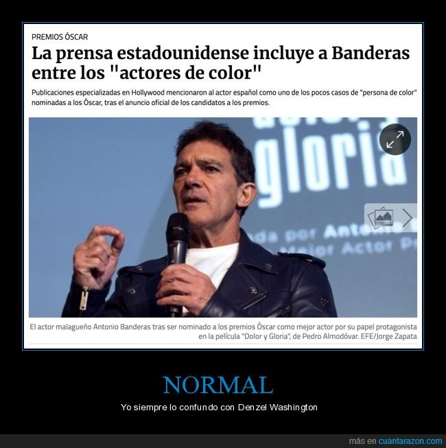 actor,antonio banderas,de color,wtf