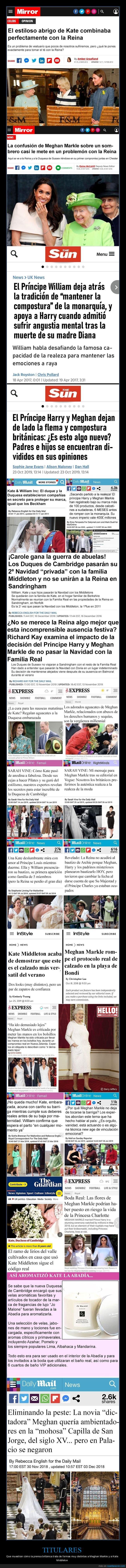 kate middleton,meghan markle,prensa británica,titulares