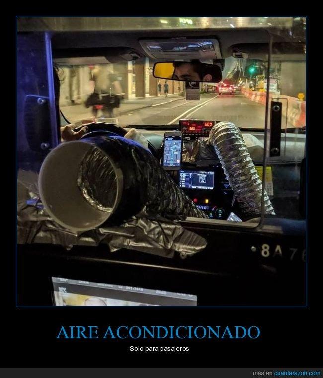 aire acondicionado,taxi,wtf