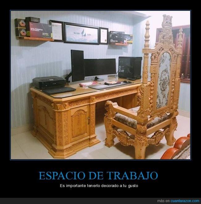 decoración,escritorio,silla,wtf