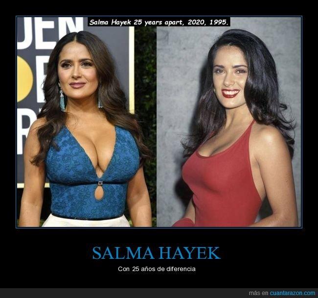 25 años,ahora,antes,salma hayek