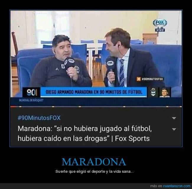 drogas,fútbol,maradona
