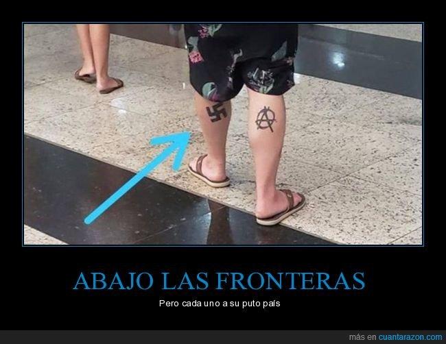 anarquía,esvástica,tatuaje,wtf