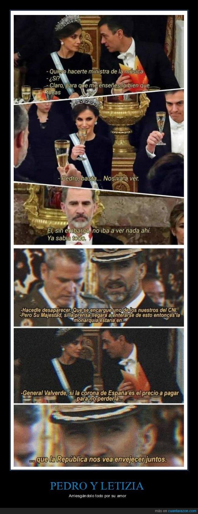letizia,pedro sánchez,rey