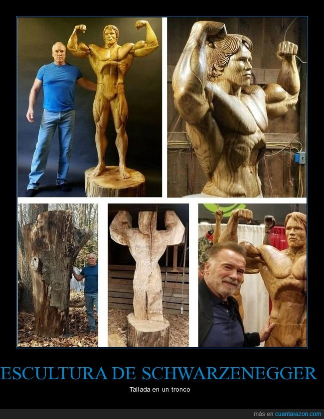escultura,schwarzenegger,tronco