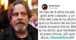 Enlace a Mark Hamill responde ingeniosamente a un tuit donde contaban que a una niña de 5 años le dijeron que Star Wars no es para chicas