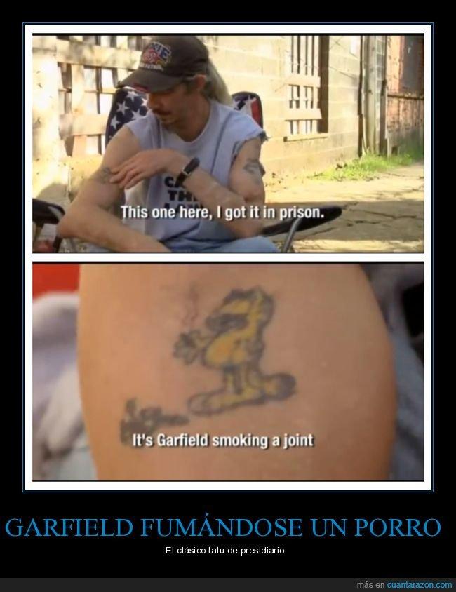 fumando,garfield,tatuaje,wtf