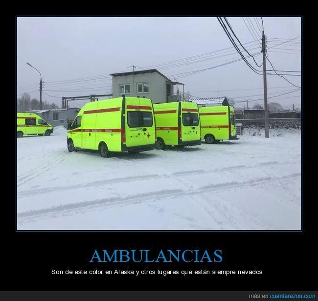 ambulancias,color,nieve