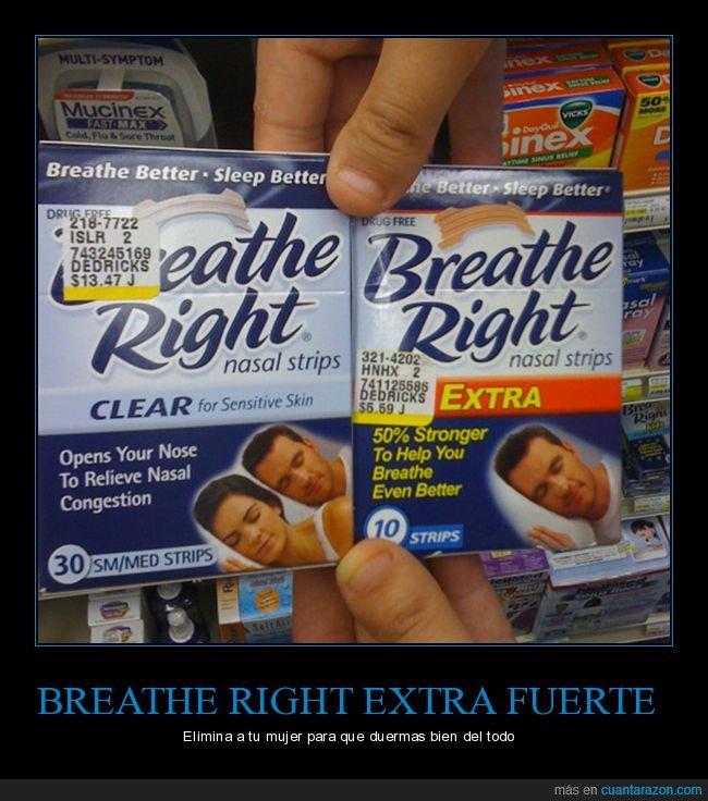 breathe right,dormir,eliminar,extra fuerte,mujer
