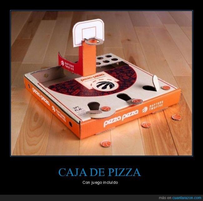 caja de pizza,canasta,juego