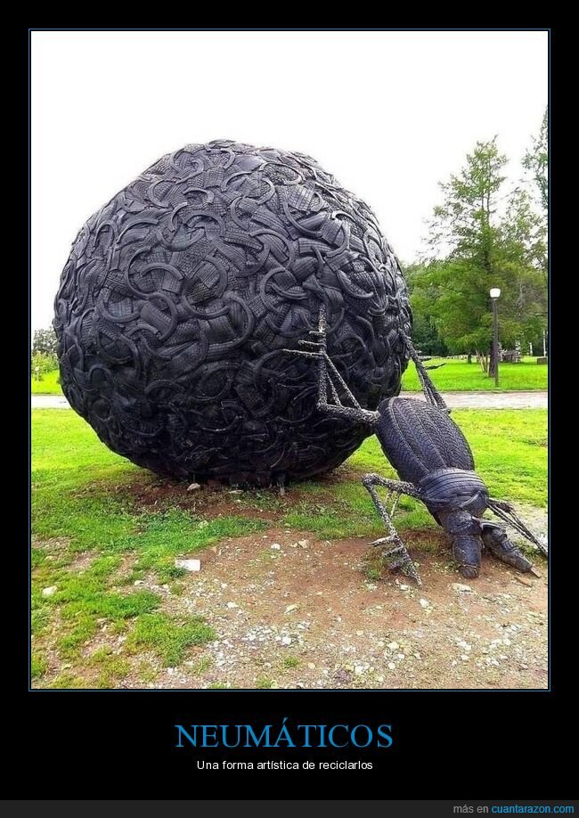 escarabajo,escultura,neumáticos