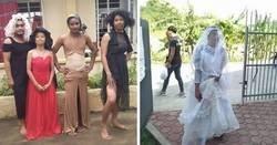 """Enlace a Divertidas fotos de filipinos vestidos con """"inadecuada"""" ropa donada en centros de evacuación por el volcán"""