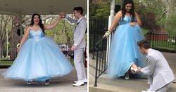 Enlace a Este chico fabricó de cero un vestido precioso tras saber que su pareja no podía permitirse el vestido de sus sueños